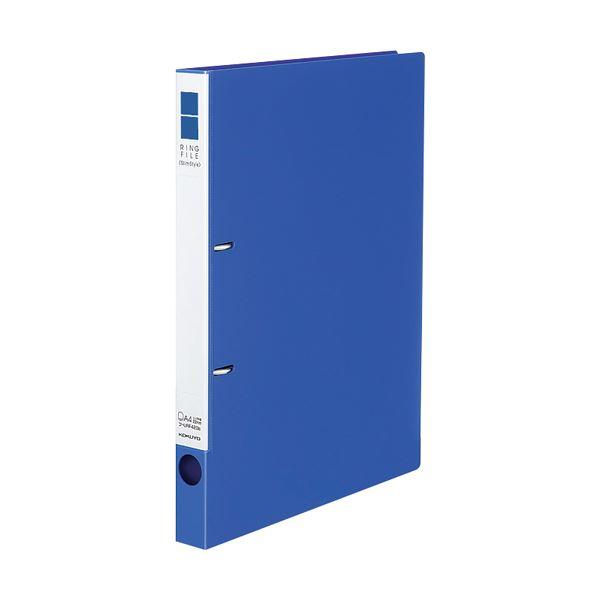 (まとめ) コクヨ リングファイル(スリムスタイル)A4タテ 2穴 180枚収容 背幅27mm 青 フ-URF420B 1冊 【×30セット】