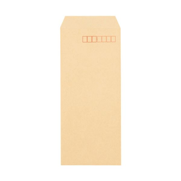 (まとめ) TANOSEE クラフト封筒 テープ付長40 70g/m2 〒枠あり 1パック(100枚) 【×30セット】