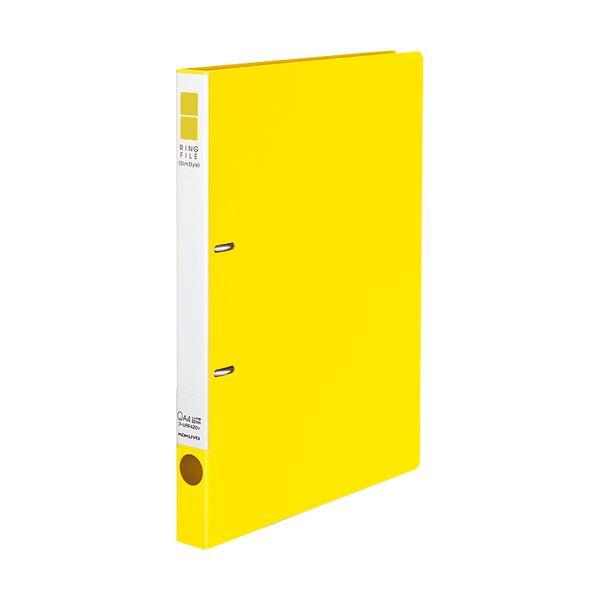 (まとめ) コクヨ リングファイル(スリムスタイル)A4タテ 2穴 180枚収容 背幅27mm 黄 フ-URF420Y 1冊 【×30セット】