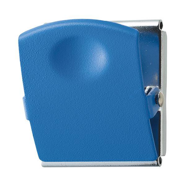 (まとめ) TANOSEE 超強力マグネットクリップL ブルー 1個 【×30セット】