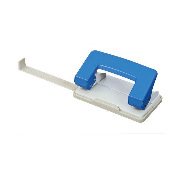 (まとめ) TANOSEE 2穴パンチ 10枚穿孔ブルー 1台 【×50セット】