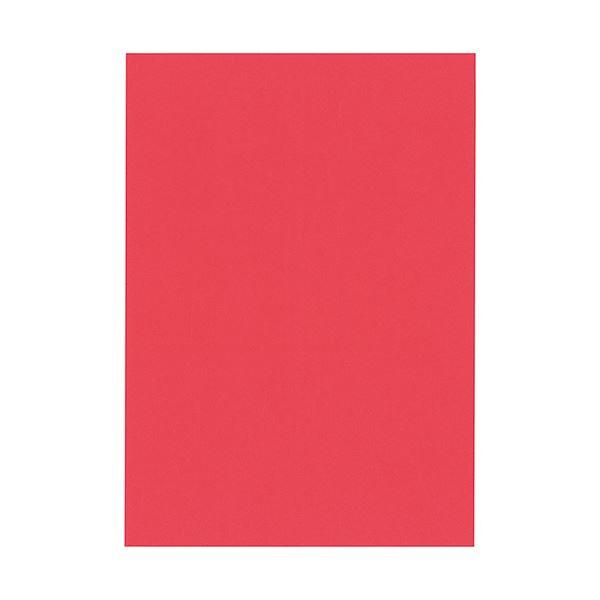 (まとめ) 北越コーポレーション 紀州の色上質A4T目 薄口 赤 1冊(500枚) 【×5セット】