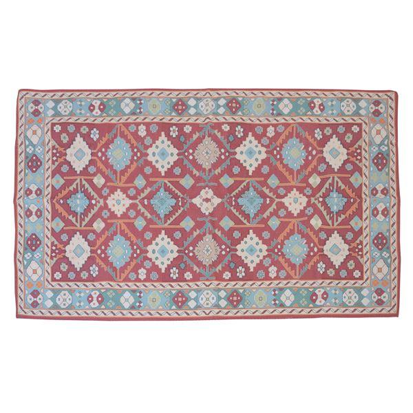 エスニック風 ラグマット/絨毯 【170×230cm TTR-169B】 長方形 インド製 〔リビング ダイニング 応接間 客間〕
