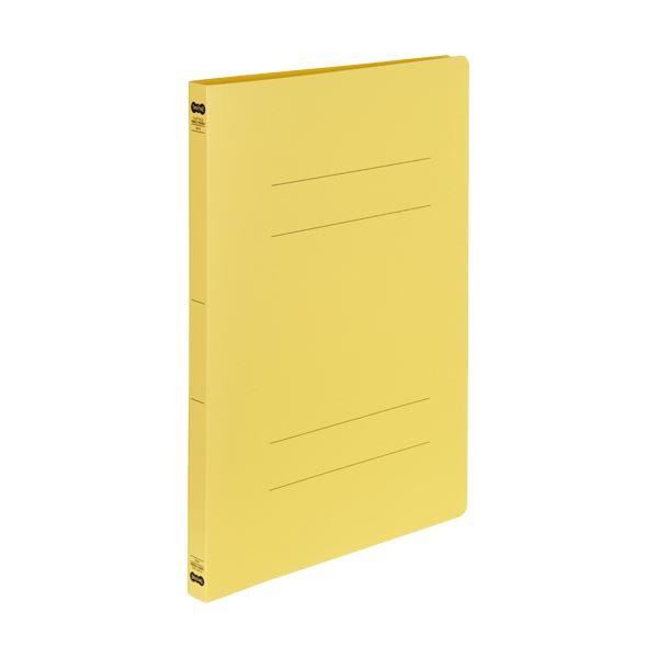 (まとめ)TANOSEE書類が出し入れしやすい丈夫なフラットファイル「ラクタフ」 A4タテ 150枚収容 背幅20mm イエロー1セット(50冊:5冊×10パック)【×3セット】