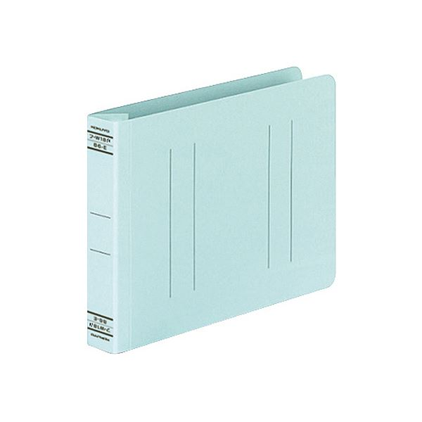 (まとめ) コクヨ フラットファイルW(厚とじ)B6ヨコ 250枚収容 背幅28mm 青 フ-W18NB 1セット(10冊) 【×10セット】