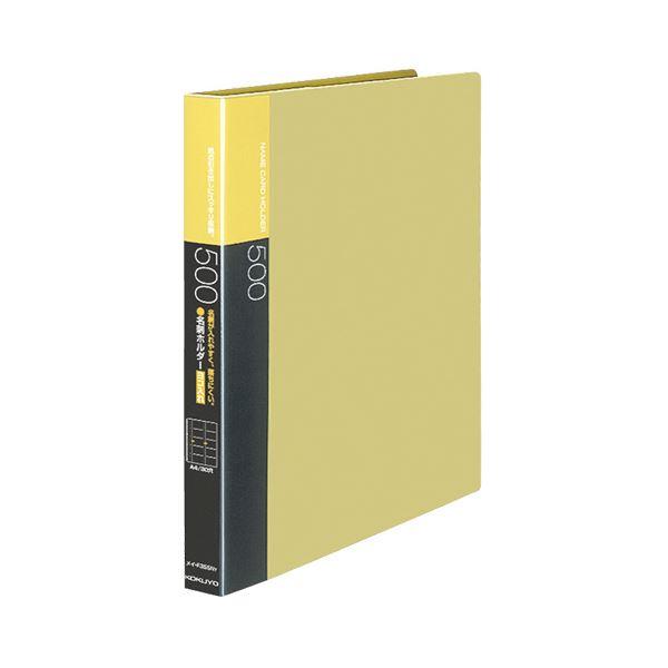 (まとめ) コクヨ名刺ホルダー(替紙式・発泡PPシートタイプ) 30穴 500名 ヨコ入れ 黄 メイ-F355NY 1冊 【×10セット】