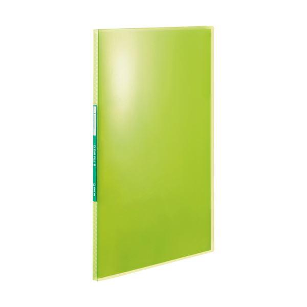 (まとめ) キングジム シンプリーズクリアーファイル(透明) A4タテ 10ポケット 背幅10mm 黄緑 TH184TSPHG 1冊 【×100セット】