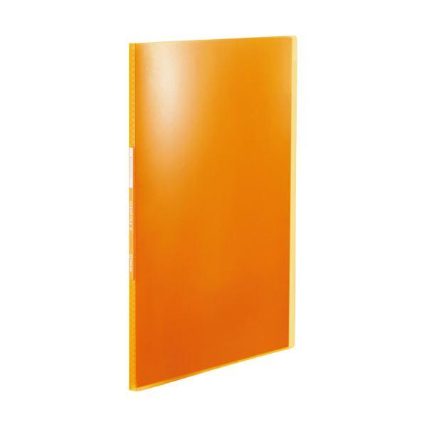 (まとめ) キングジム シンプリーズクリアーファイル(透明) A4タテ 10ポケット 背幅10mm オレンジ TH184TSPHO 1冊 【×100セット】
