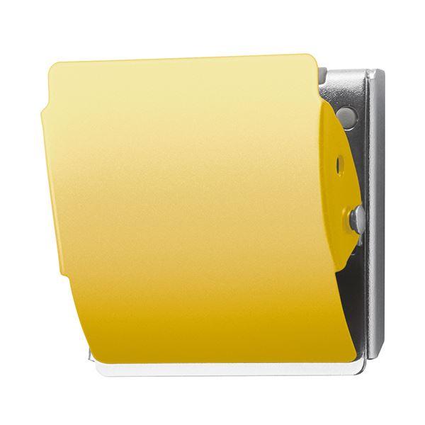 ゴム素材がスチール面にフィット 軽い力で開き 贈呈 分厚い書類も しっかりキープ まとめ プラス ホールド 1個 マグネットクリップ Lイエロー CP-047MCR 誕生日プレゼント ×30セット