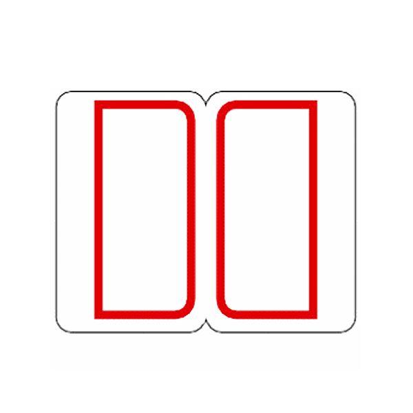 (まとめ) ライオン事務器 インデックスラベル 中23×29mm 赤枠 RM2 1パック(240片:12片×20シート) 【×50セット】