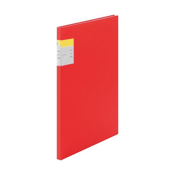 (まとめ) キングジム クリアーファイル カキコA4タテ 20ポケット(小口10枚) 背幅13mm 赤 8632アカ 1冊 【×30セット】