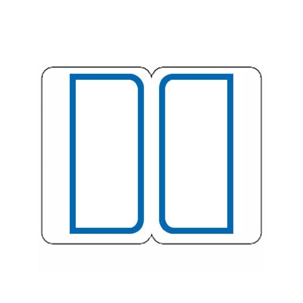 (まとめ) ライオン事務器 インデックスラベル 中23×29mm 青枠 BM2 1パック(240片:12片×20シート) 【×50セット】