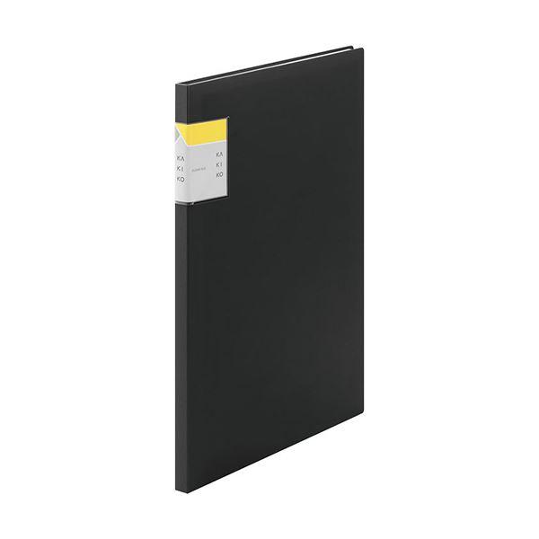 (まとめ) キングジム クリアーファイル カキコA4タテ 20ポケット(小口10枚) 背幅13mm 黒 8632クロ 1冊 【×30セット】