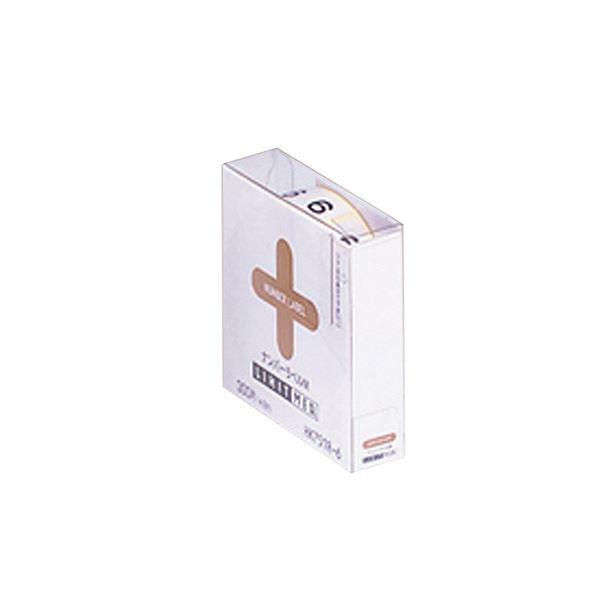 (まとめ) ナンバーラベルM HK751R-6ロールタイプ 「6」 300片入 【×10セット】