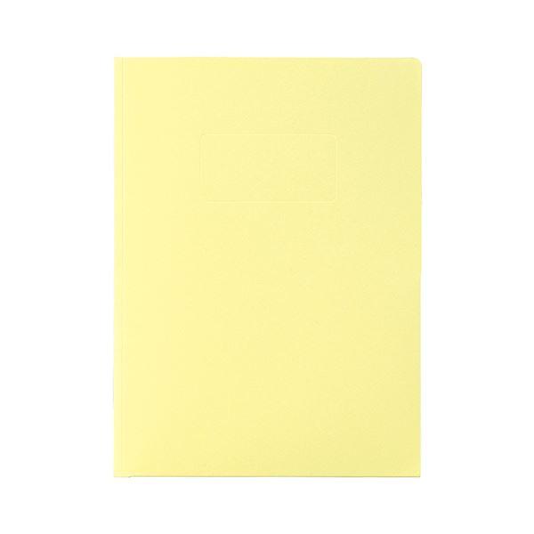 (まとめ) ライオン事務器カラーポケットホルダー(紙製) 2つ折りタイプA4(見開きA3判) ライトイエロー PH-54C 1冊 【×50セット】