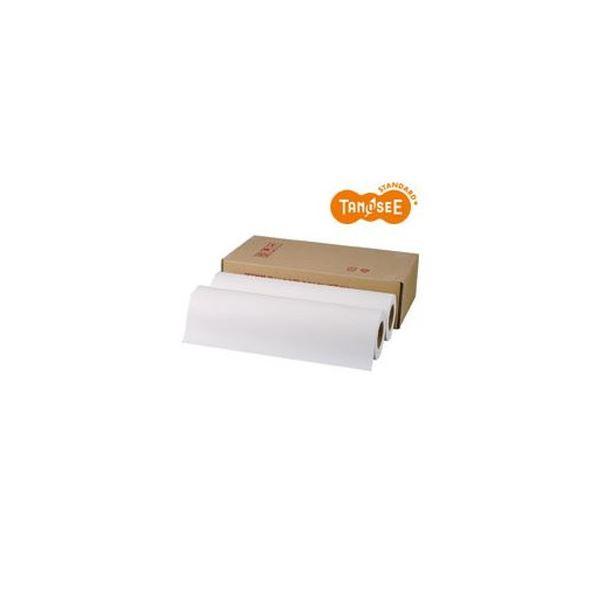 (まとめ)TANOSEE PPC・LEDプロッタ用普通紙ロール A2(420mm×150m) テープ止め 1箱(2本)【×3セット】