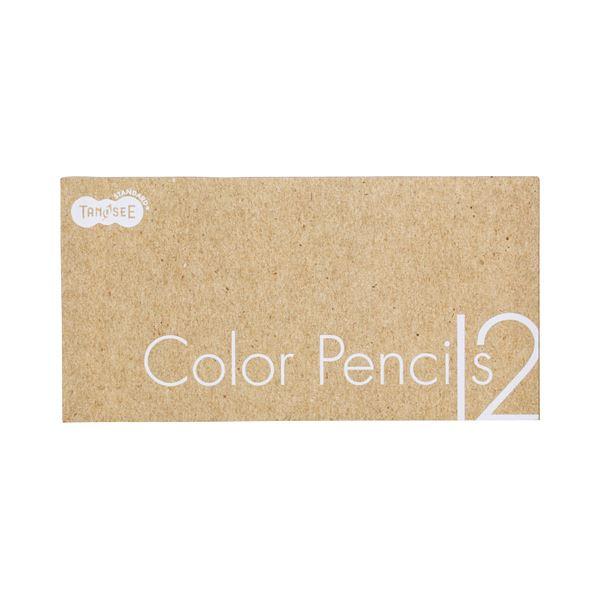 (まとめ) TANOSEE 色鉛筆 12色(各色1本) 1セット 【×30セット】