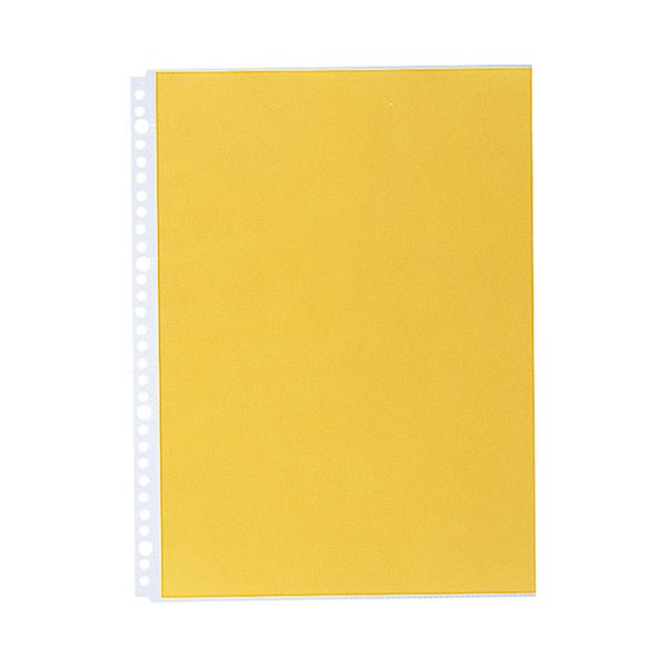 (まとめ)LIHITLAB クリヤーポケット N-2102 A4S 30穴 10枚 黄【×50セット】