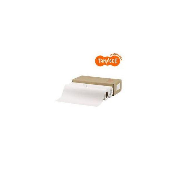 (まとめ)TANOSEE PPC・LEDプロッタ用普通紙ロール A2(420mm×150m) 素巻き 1箱(2本)【×3セット】