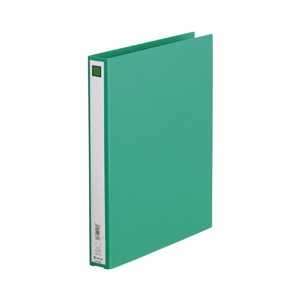 (まとめ) キングジム リングファイル エコノミータイプ A4タテ 2穴 200枚収容 背幅33mm 緑 612 1冊 【×30セット】