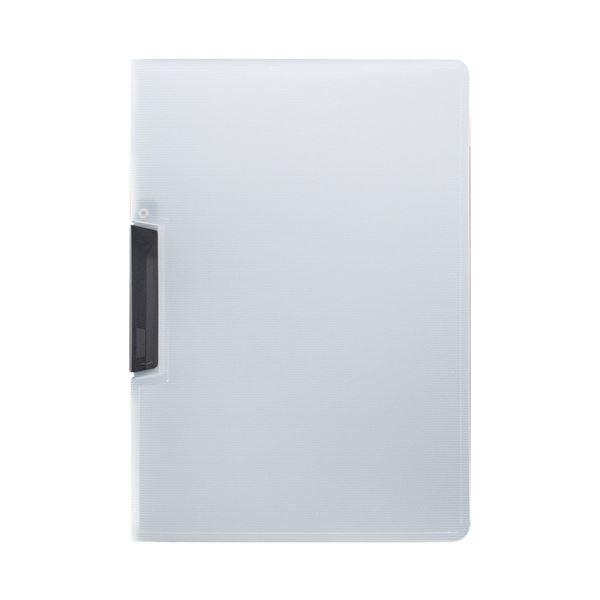 (まとめ) TANOSEE スライドクリップファイルA4タテ 黒 1セット(20冊) 【×10セット】