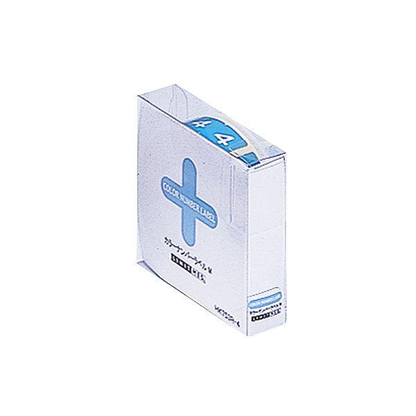 (まとめ) リヒトラブ カラーナンバーラベルMロールタイプ 「4」 HK753R-4 1箱(300片) 【×10セット】