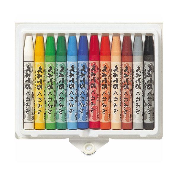(まとめ) ぺんてる くれよん 12色(各色1本) PTCR-12 1箱 【×30セット】