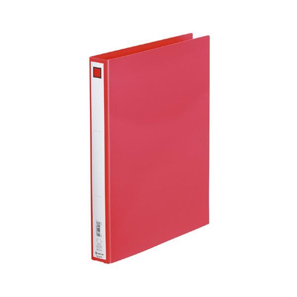 (まとめ) キングジム リングファイル エコノミータイプ A4タテ 2穴 200枚収容 背幅33mm 赤 612 1冊 【×30セット】
