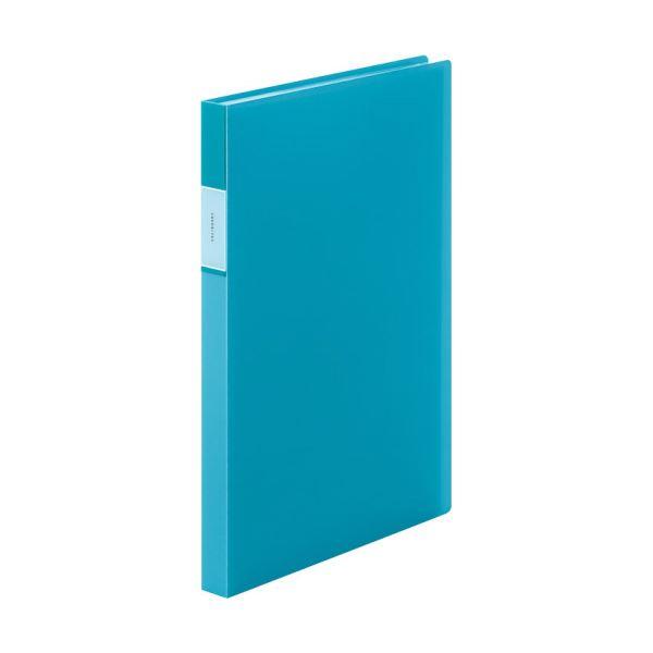 (まとめ) キングジム FAVORITESクリアーファイル(透明) A4タテ 40ポケット 背幅24mm 水色 FV166TWミス 1冊 【×30セット】