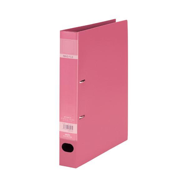 (まとめ) セキセイ ロックリングファイル A4タテ2穴 280枚収容 背幅43mm ピンク F-532-21 1冊 【×30セット】