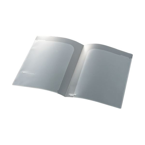 (まとめ) ビュートン スマートホルダーA4(見開きA3) 2ポケット クリヤー NSH-A4-2C 1冊 【×100セット】