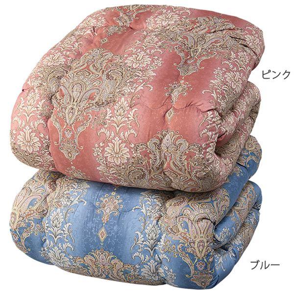羽毛タッチ 掛け布団/寝具 【ダブル ピンク】 幅190cm 日本製 洗える 軽量 東レ セベリス 〔ベッドルーム 寝室〕