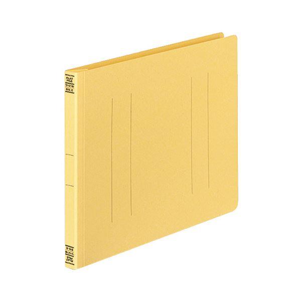 (まとめ) コクヨ フラットファイルV(樹脂製とじ具) B5ヨコ 150枚収容 背幅18mm 黄 フ-V16Y 1パック(10冊) 【×10セット】