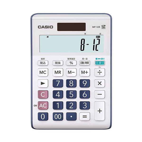 (まとめ) カシオ 余り計算電卓 12桁MP-12R-N 1台 【×10セット】