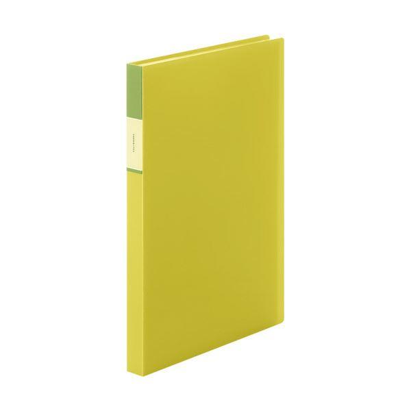 (まとめ) キングジム FAVORITESクリアーファイル(透明) A4タテ 40ポケット 背幅24mm 黄色 FV166TWキイ 1冊 【×30セット】