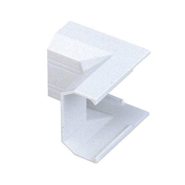 (まとめ) エレコム フラットモール接続ユニット イリズミ 幅22mm用 ホワイト LD-GAFR2/WH 1個 【×50セット】