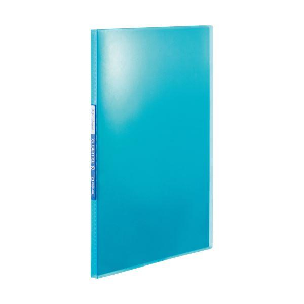 (まとめ) キングジム シンプリーズクリアーファイル(透明) A4タテ 20ポケット 背幅12mm 青 TH184TSPB 1冊 【×50セット】