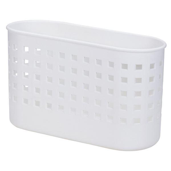 (まとめ) バスケットミニ/小物入れ 【マグネット式】 ホワイト 壁掛け収納 キッチン収納 『Mag-On』 【30個セット】