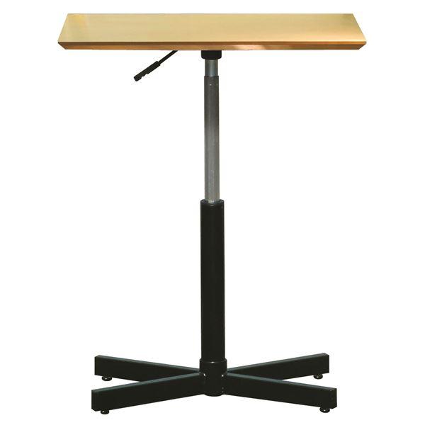 昇降サイドテーブル 【ナチュラル×ブラック】 幅60cm 日本製 木製 スチールパイプ 耐荷重30kg 『ブランチ ヘキサテーブル』【代引不可】