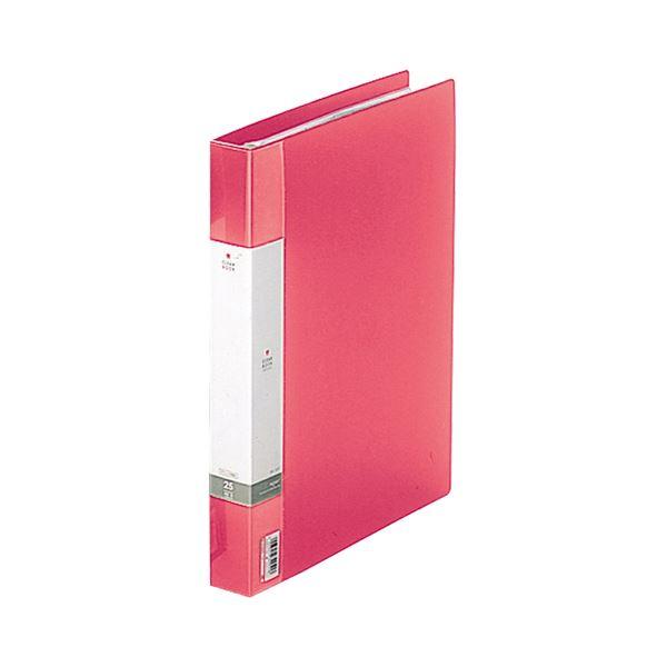 (まとめ) リヒトラブ リクエスト クリヤーブック(クリアブック)(ポケット交換タイプ) A4タテ 30穴 25ポケット付属 背幅35mm 赤 G3802-3 1冊 【×10セット】