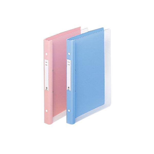 リヒトラブメディカルサポートブック・クリヤー A4タテ 4穴 背幅31mm ピンク HB667-5 1セット(10冊)