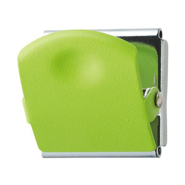 (まとめ) TANOSEE 超強力マグネットクリップM グリーン 1個 【×50セット】