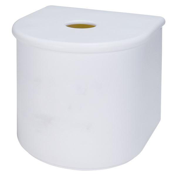 (まとめ) ロールペーパーホルダー/トイレットペーパーホルダー 【マグネット式】 ホワイト 『Mag-On』 【27個セット】
