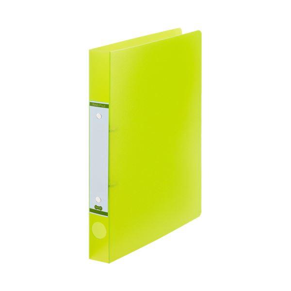 (まとめ) TANOSEEOリングファイル(半透明表紙) A4タテ リング内径25mm グリーン 1セット(10冊) 【×10セット】