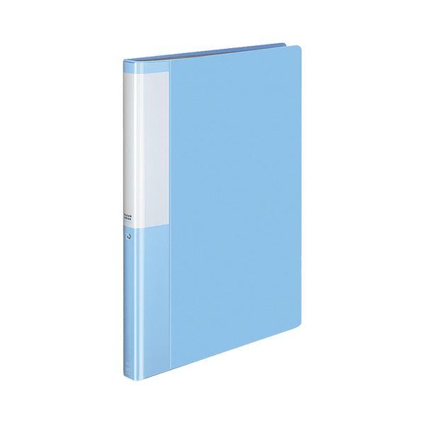 (まとめ) コクヨ クリヤーブック(クリアブック)(POSITY) 固定式 A4タテ 40ポケット 背幅25mm ライトブルー P3ラ-L40NLB 1冊 【×30セット】