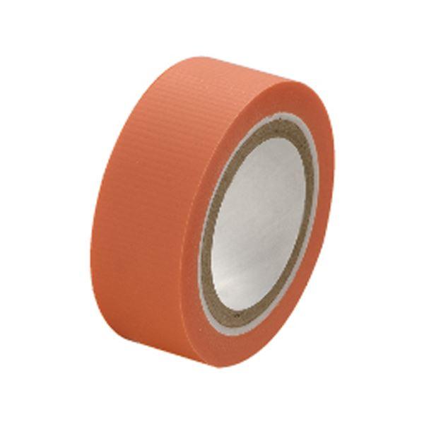 (まとめ)セキスイ スマートカットテープミニ 15mm×4.5m 橙【×50セット】