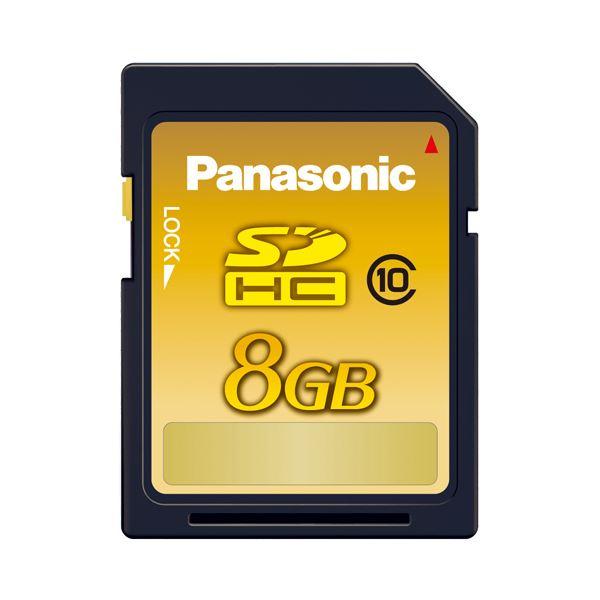 (まとめ) パナソニック SDHCメモリーカード 8GB Class10 RP-SDWA08GJK(1枚) 【×5セット】