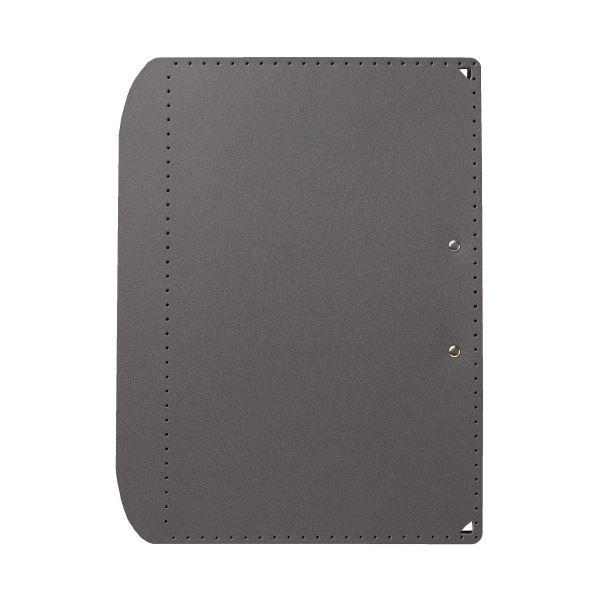(まとめ)プラス おりたためるA3クリップボード+ Dグレー(×50セット)