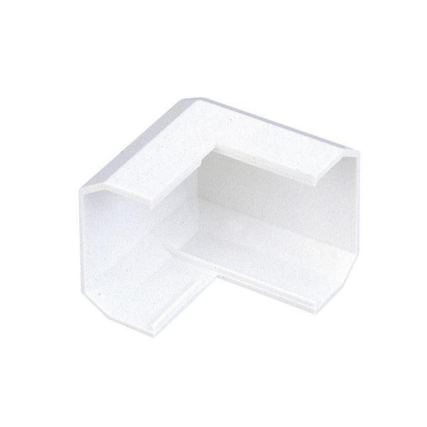 (まとめ) エレコム フラットモール接続ユニット デズミ 幅17mm用 ホワイト LD-GAFD1/WH 1個 【×100セット】