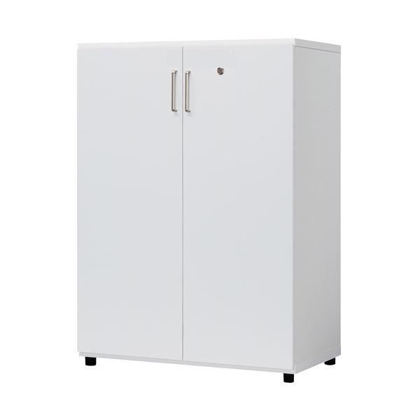 白井産業 木製棚扉付 OF2-1175RT H1114mm ホワイト